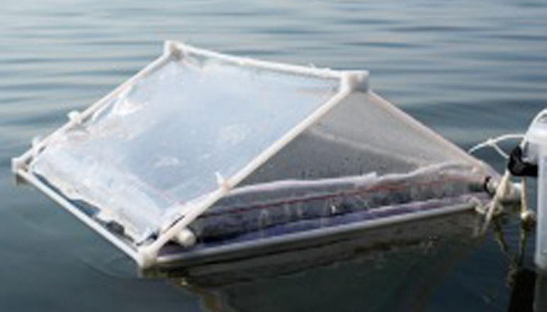 Floating solar evaporation system