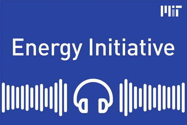 "Headphones and lines with the text ""Energy Initiative"" in the center and ""MIT"" in the top right corner"