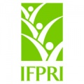 "Green icon three plant sprouts and acronym ""IFPRI"""