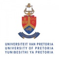 Sheild with book and U of Pretoria written in three languages