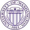 University of washington logo - circle with sheild in center and the year 1861